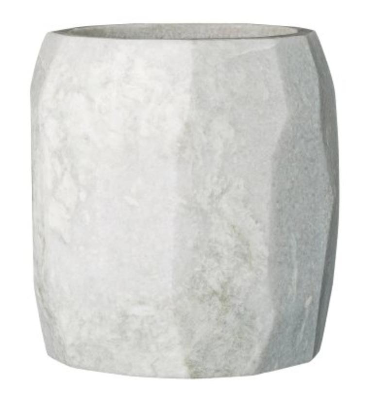 marmor potte hvit