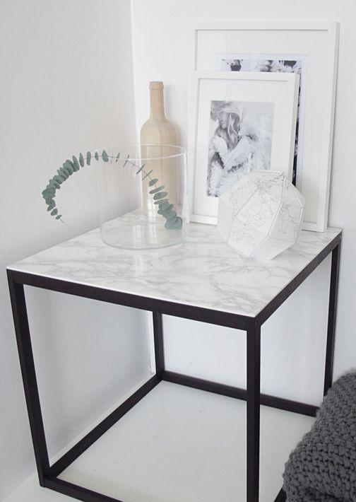 mamorbord svart og hvit