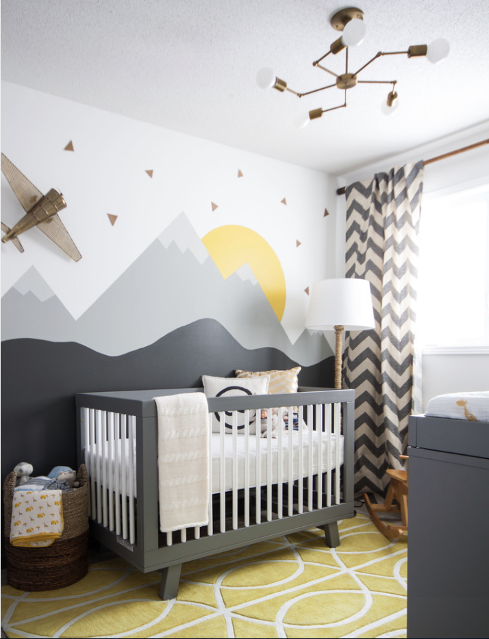 30 inspirerende barnerom interior inspirasjon for Modern unisex nursery ideas