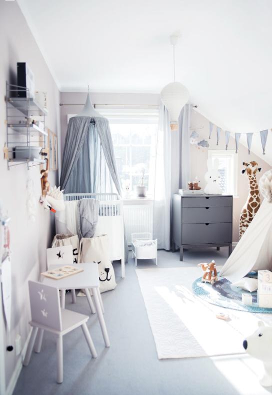 30 inspirerende barnerom interi r inspirasjon for Kinderzimmer nordisch