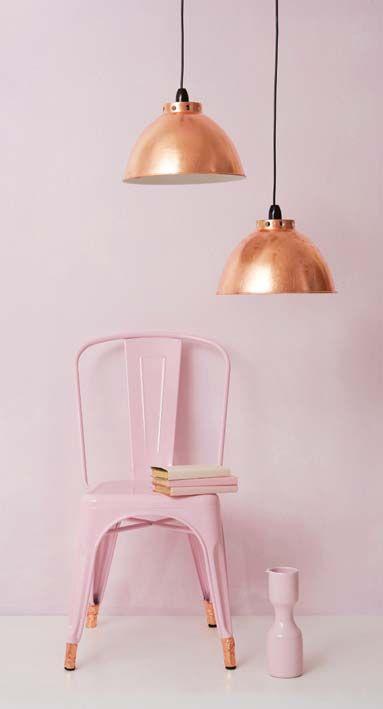 Tolix stol i rosa