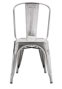Tolix stol sølv metall