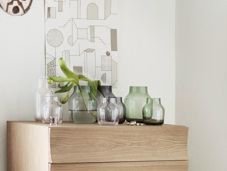 Silent vase interiør i hjemmet vaser