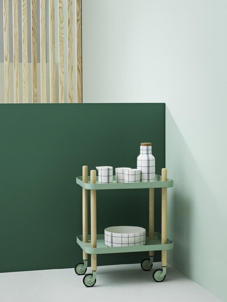 Block bord tralle grønn og mint