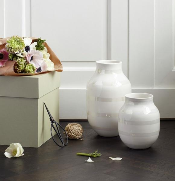 Kähler perlemor vase i medium og stor