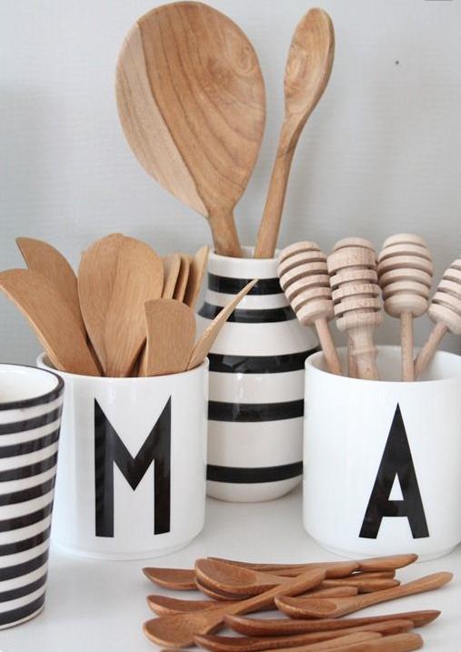 Design Letters kopp på kjøkken