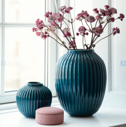 trendy blågrønn vase