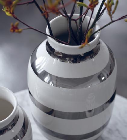 kähler omaggio vase sølv