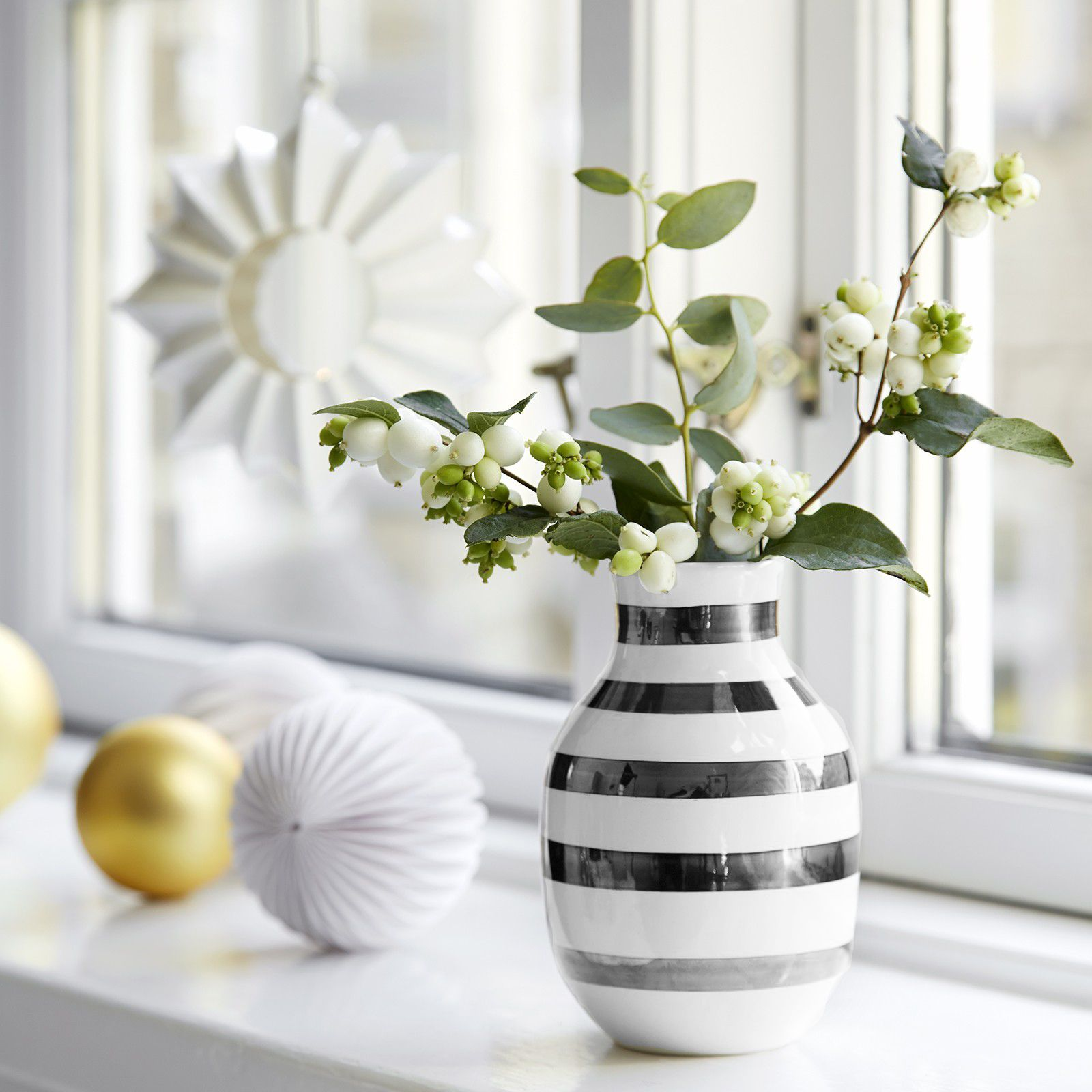 kahler omaggio vase silver small