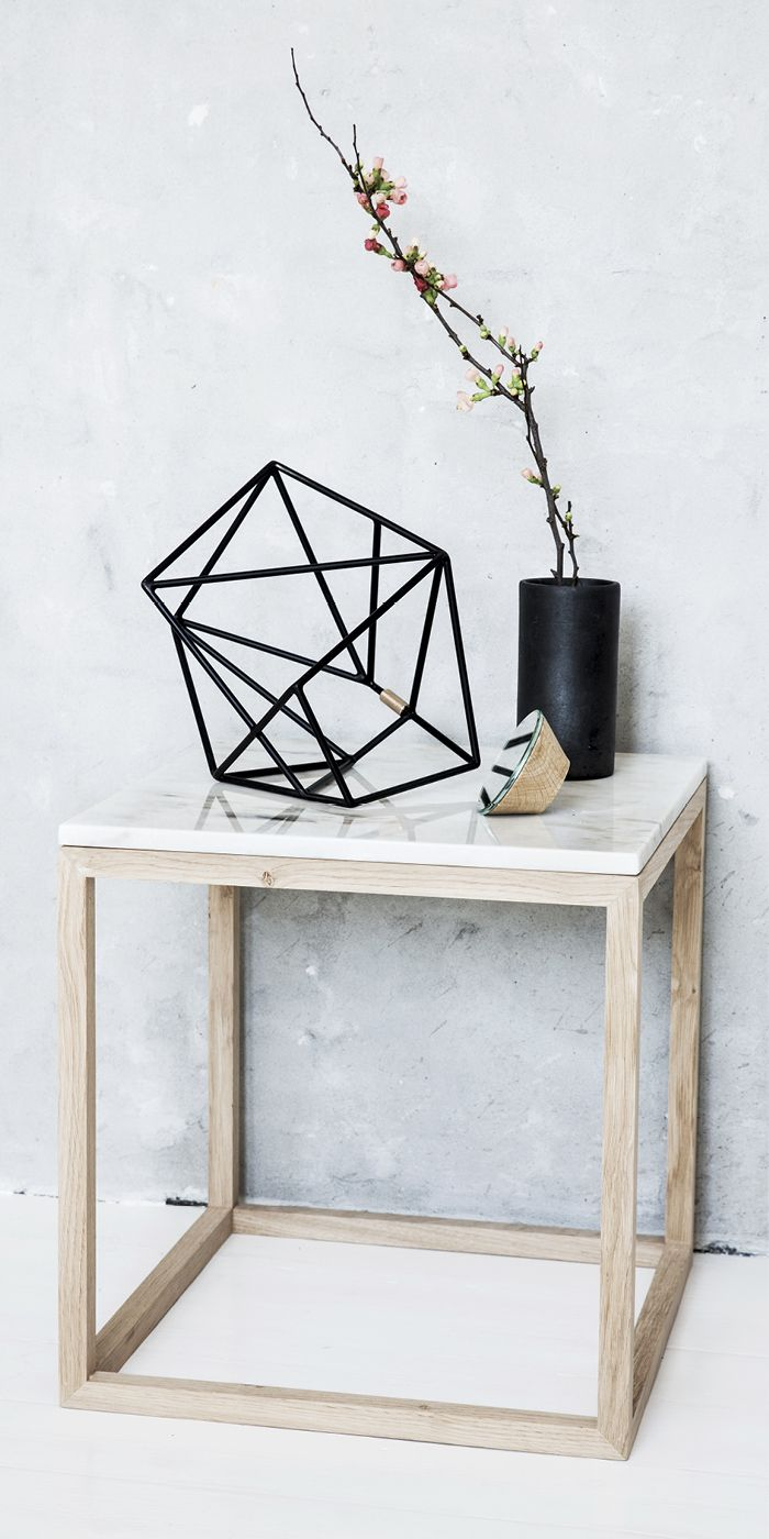 Marmorbord firkantet