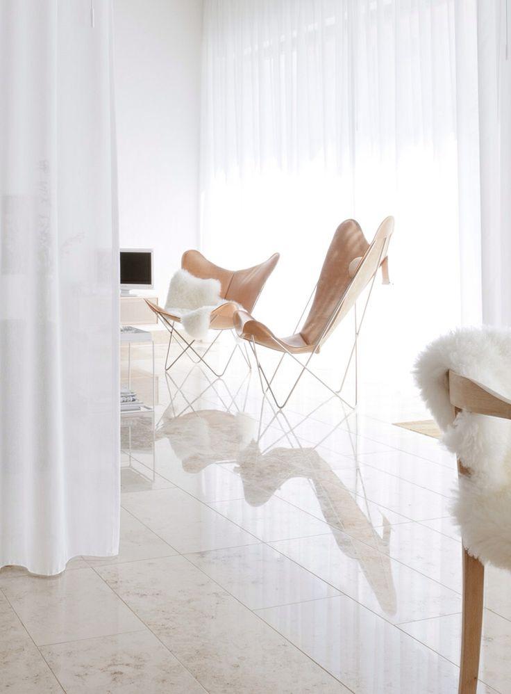 Beige butterfly stol natur interiør - design stol