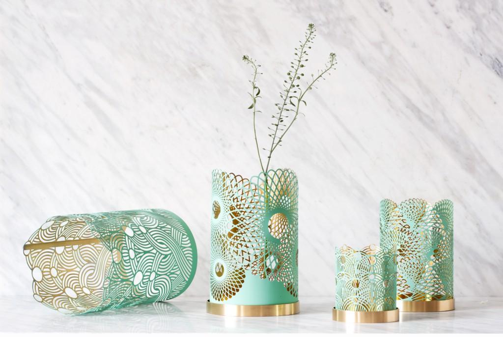 Grønn vase inspirasjon til stue