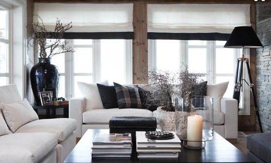 hvit sofa og hytteinspirasjon Foto: slettvoll