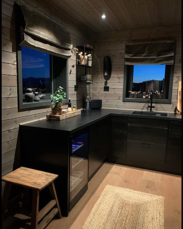 hytte interior vinter