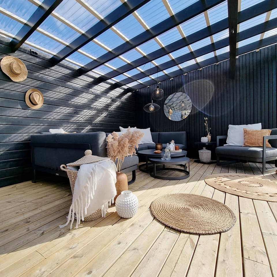pergola hage og terrasse inspirasjon