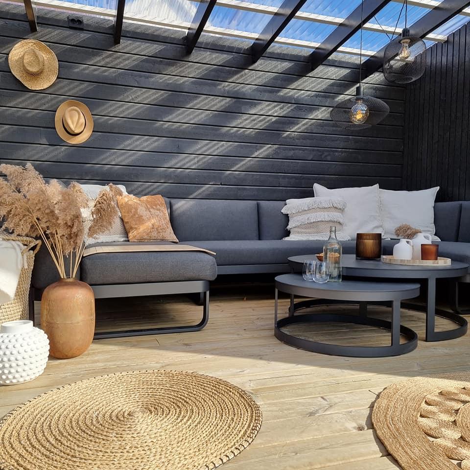 terrasse pergola inspirasjon hagemøbler