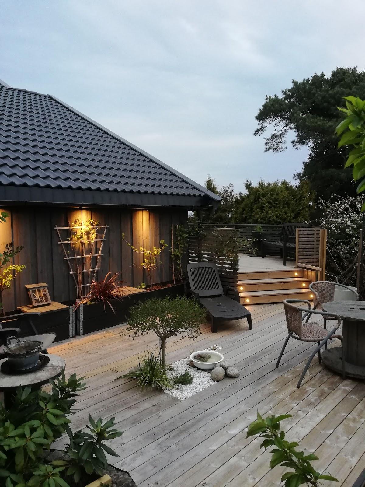 terrasse inspirasjon hage