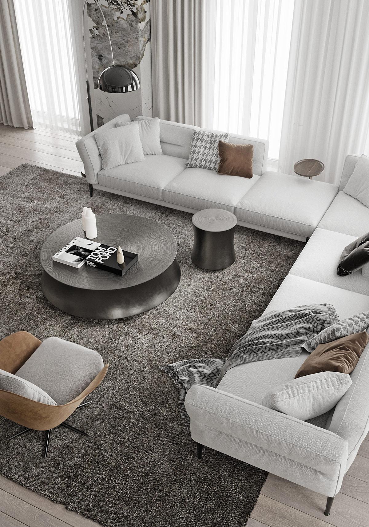 hvit stue inspirasjon