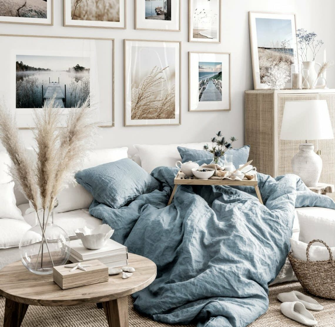 stue hvit og beige inspirasjon
