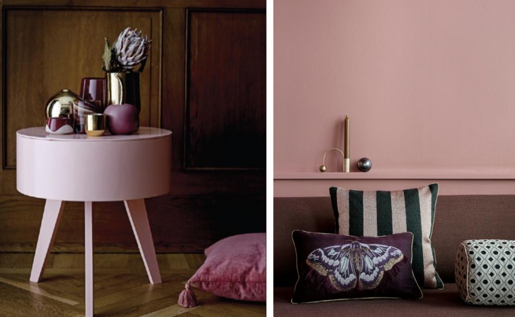 Interiørtrend 2018 rosa og blush farger