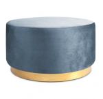 Studio Round sittepuff, azure